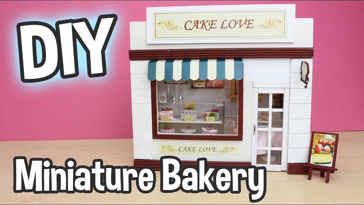 Diy Miniature Bakery Dollhouse Kit Cake Love Cute Shop