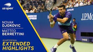Novak Djokovic vs Matteo Berrettini Extended Highlights