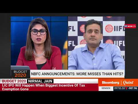 IIFL Group's Nirmal Jain On Highlights From Union Budget 2020