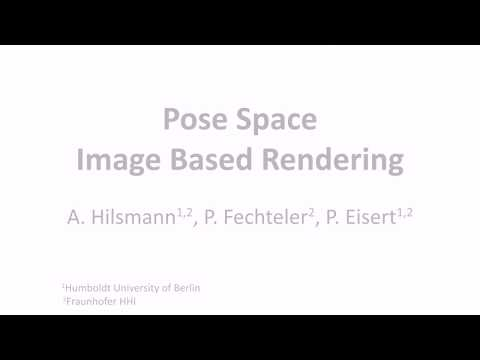 Pose-Space Image-Based Rendering, Eurographics 2013