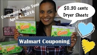 Walmart Couponing | Awesome Deal On Dryer Sheets