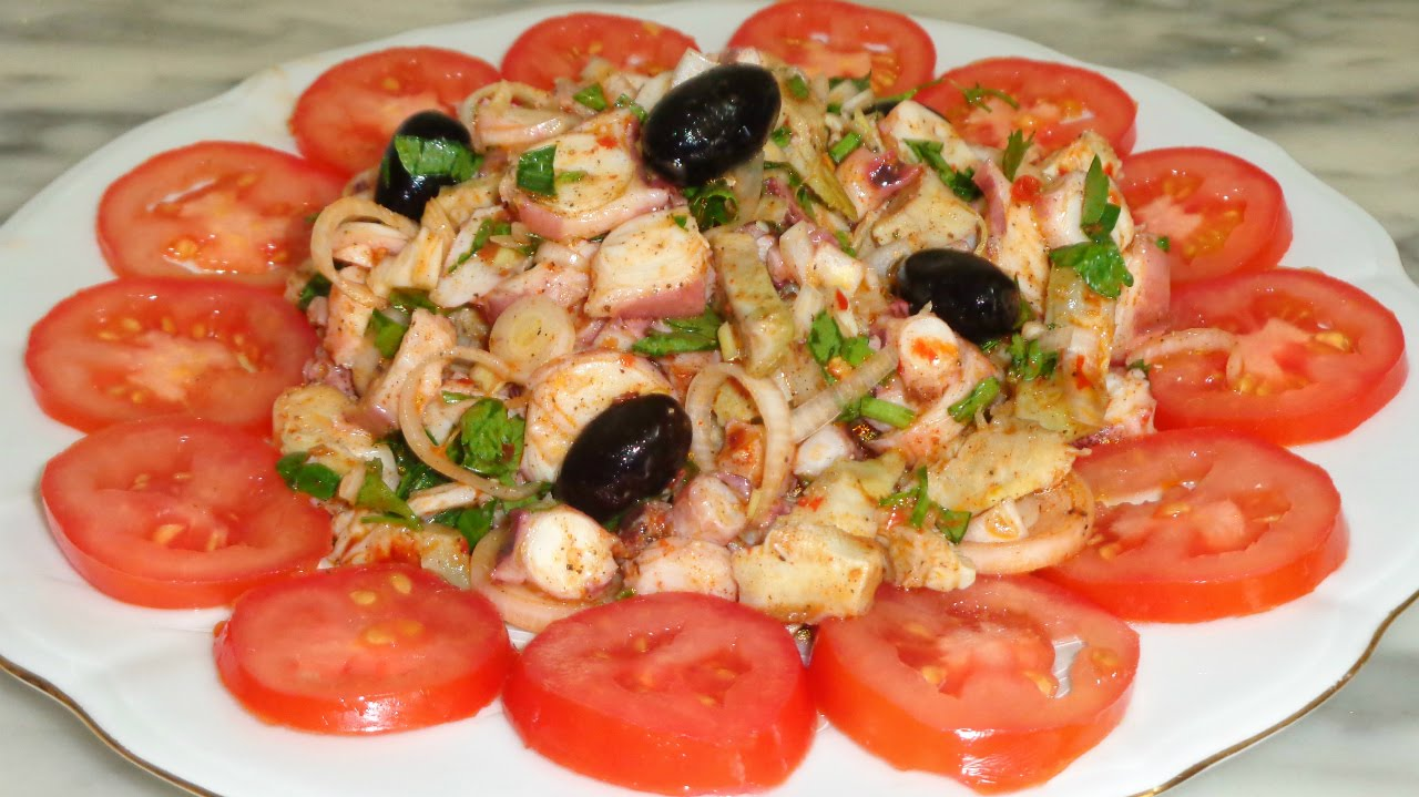 Salade tunisienne aux poulpes - Youtube cuisine tunisienne ...
