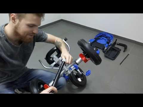 Видео инструкция сборки велосипед трехколесный детский Best Trike 6588B