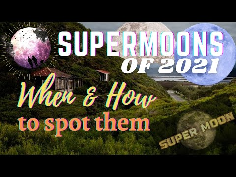 SUPERMOONS | What is Supermoon | Super Moons 2021 |  Super Worm Moon | Super Flower Moon