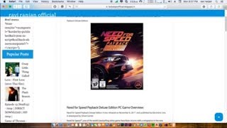 How To Download Need for Speed Payback Deluxe Edition for PC | Windows 7,8,10 |