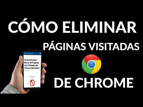 Cómo Eliminar las Páginas más Visitadas en Chrome