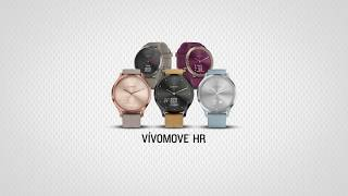 The stylish vívomove HR hybrid smartwatch1 features a touchscreen w...