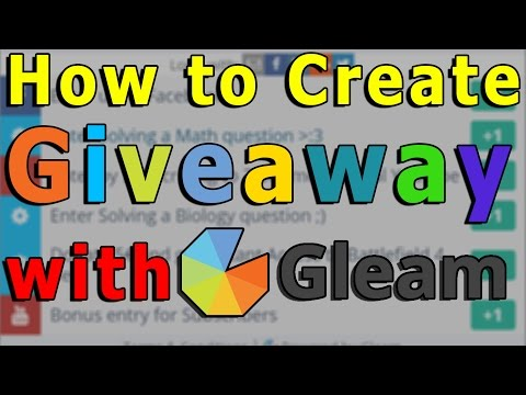 How to Create Giveaway with Gleam?