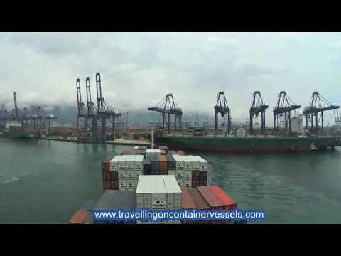 Container vessel leaving the port of Yantian, China