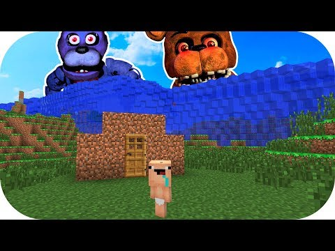 BEBE NOOB VS TSUNAMI FIVE NIGHTS AT FREDDY'S MINECRAFT TROLL + ROLEPLAY