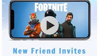 Fortnite mobile friend invite codes giving away 3 to new subscribers