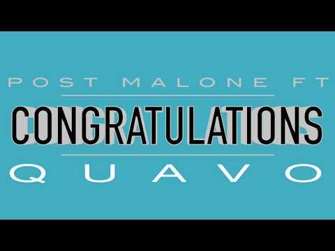 Congratulations (Clean) - Post Malone Ft. Quavo w/ Lyrics!!!