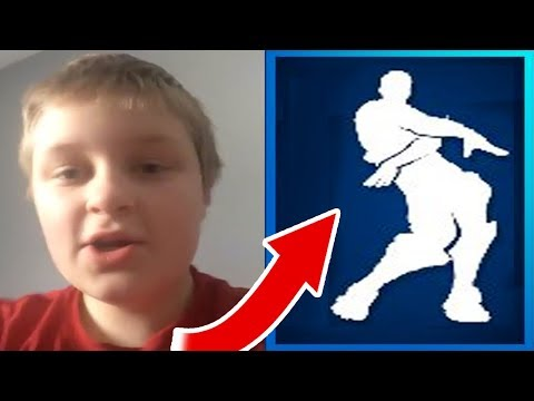 ORANGE SHIRT KID REACTS To HIS ORANGE JUSTICE DANCE EMOTE In FORTNITE