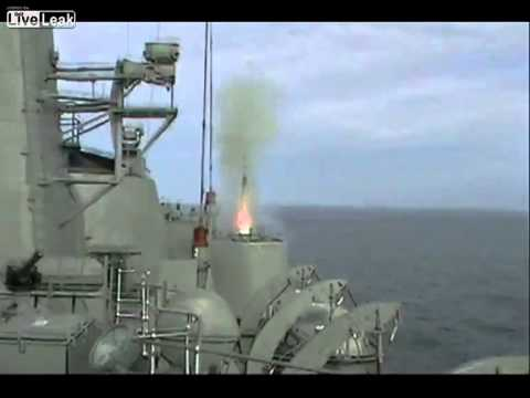Chilean navy fires Barak missile