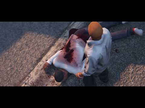 GTA V| Boyz N The Hood| Ricky gets shot| Death| HD| 1080p