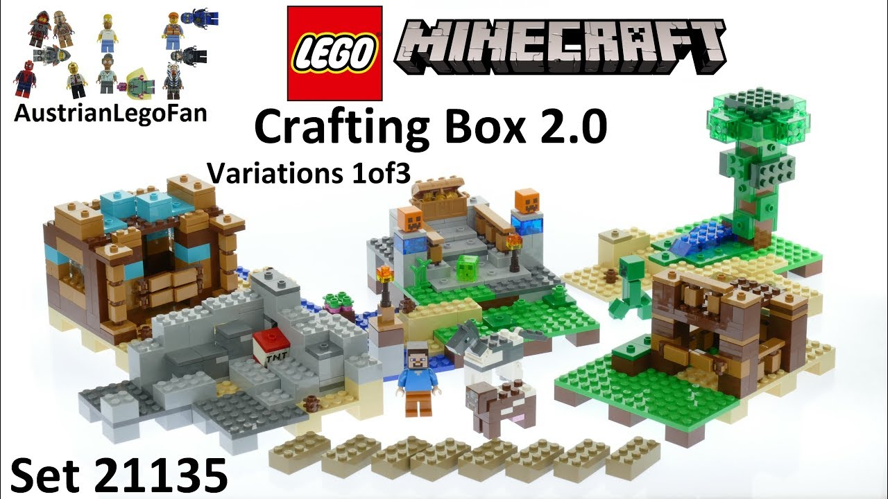 Lego Minecraft 21135 Crafting Box 2 0 Version 1of3 - Lego Speed Build Review