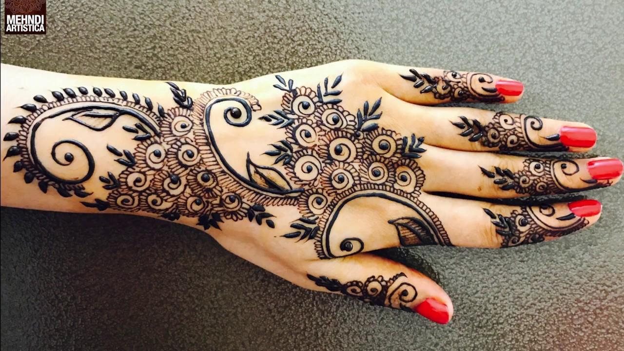Henna Ideas: Unique Modern Gulf Henna Mehendi Design
