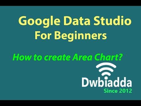 How to create Area chart in google data studio
