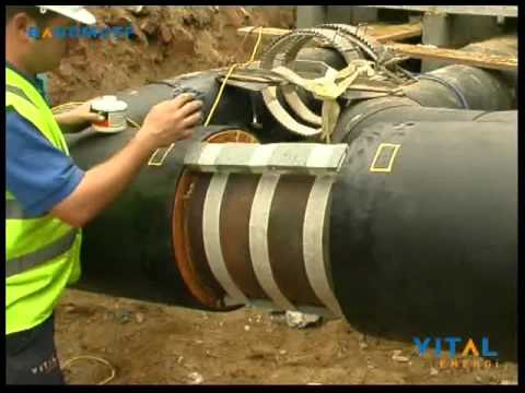 Under ground chilled water pipe insulation - YouTube