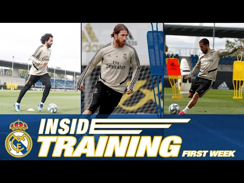 ACCESS ALL AREAS during first week of training at Ciudad Real Madrid under the COVID-19 protocol