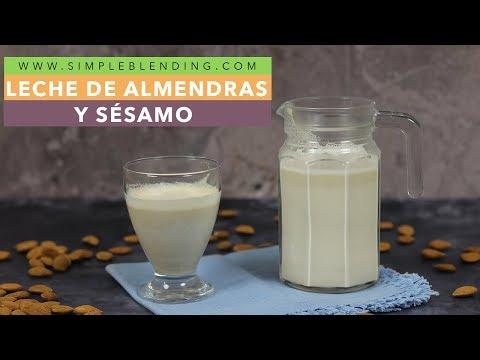 Leche de almendras y sésamo | Bebida vegetal de almendras | Cómo hacer leche vegetal saludable
