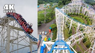 Benyland's Not-So-Smooth Cyclone Roller Coaster! Multi Angle 4K POV Japan 八木山ベニーランド