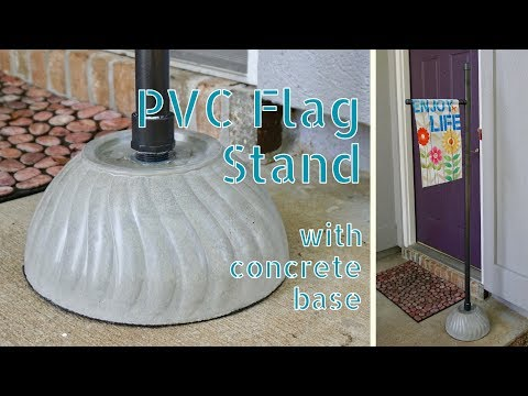 DIY Portable PVC & Concrete Flag Stand