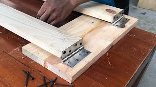 Creative DIY Ideas Using Wood For Your Home // How to build a DIY wooden folding ladder
