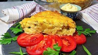 Картофельная запеканка с цветной капустой | Сытное и простое блюдо. | Которое съедается очень быстро