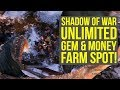 Shadow of War UNLIMITED GEM & MONEY SPOT (Middle Earth Shadow of War Tips And Tricks)