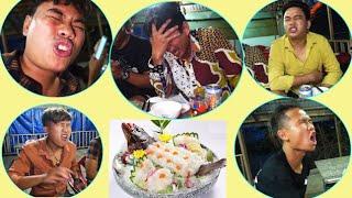 NVL | Cảm Xúc Của Team Khi Ăn Cá Mú Chấm Mù Tạt
