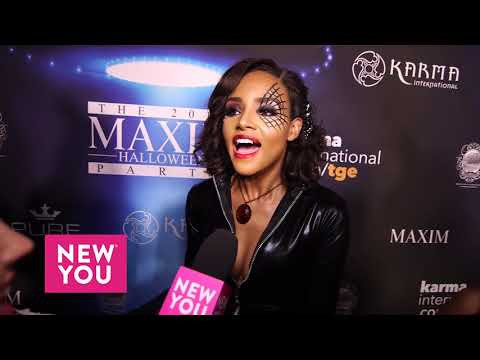 Meagan Tandy at the Maxim Halloween Party