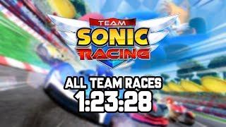 Team Sonic Racing (PC) - All Team Races speedrun in 1:23:28