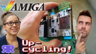 Amiga 600: You'll never guess what I installed... ♻️ #Upcycling {Quick Bytes}