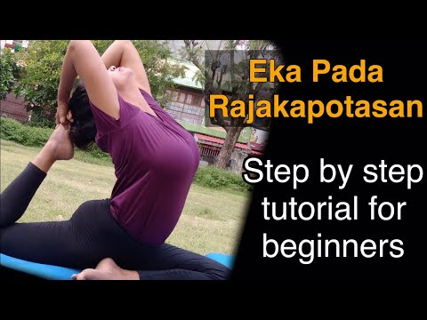EKA PADA RAJAKAPOTASAN | ONE LEGGED KING PIGEON POSE TUTORIAL FOR BEGINNERS BY YOGA WITH SHAHEEDA