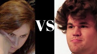 Judit Polgar vs Magnus Carlsen - Blindfold game - Mexico City 2012 - Pirc Defence (Chessworld.net)