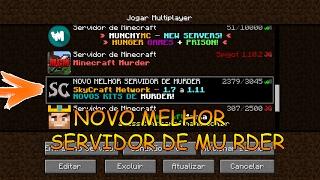Minecraft: NOVO MELHOR SERVIDOR DE MURDER PIRATA DE TODOS!