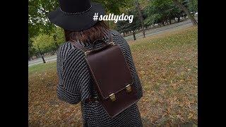 видео Женский кожаный рюкзак своими руками