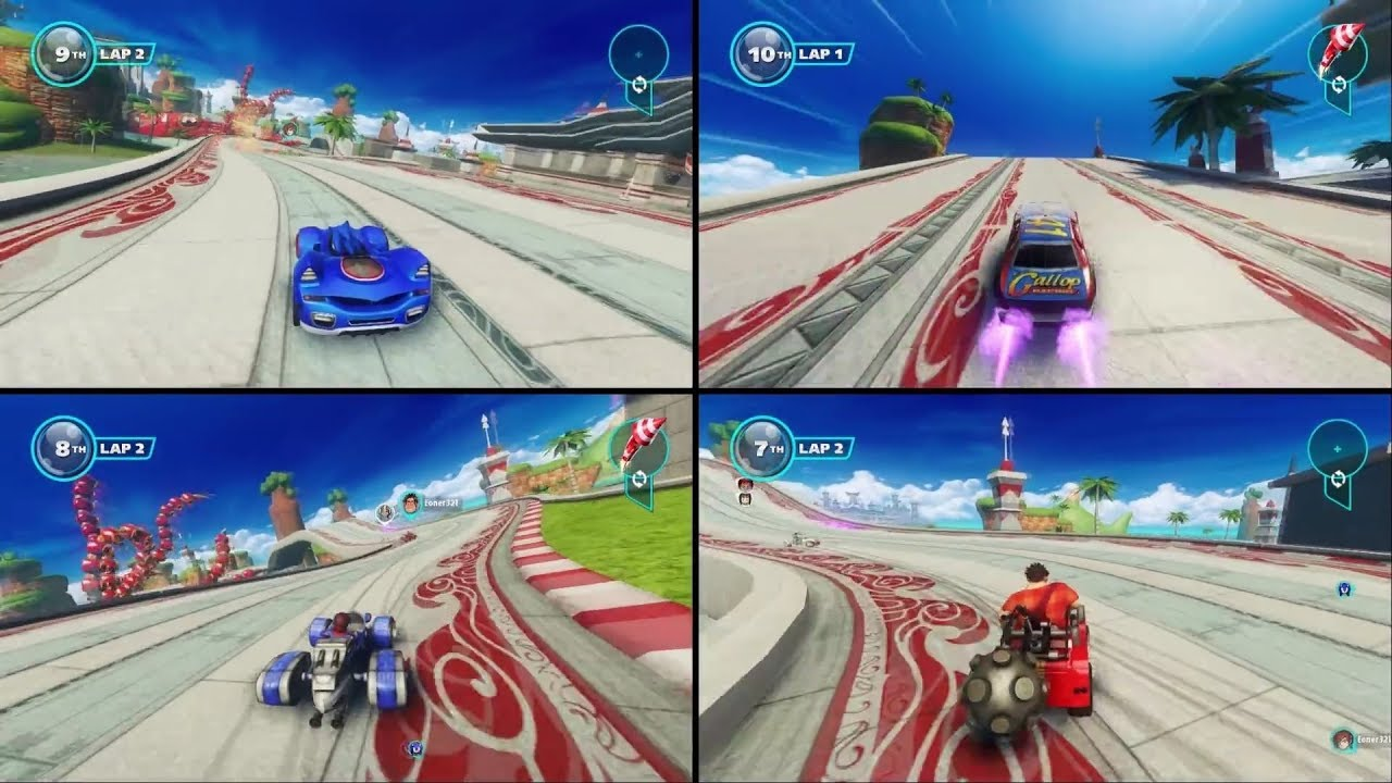 4 player xbox 360 games racing