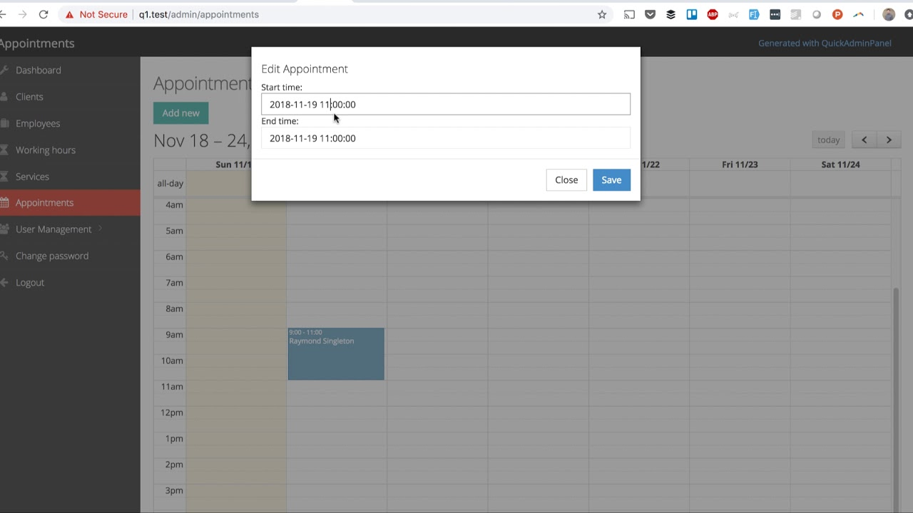 Laravel + FullCalendar: Edit Events with Bootstrap Modal – Quick