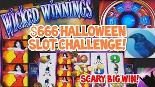 $666 Wicked Winnings Slot Challenge 🦇 Spooky Big Win!