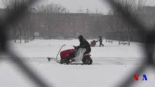 Une tempête de neige frappe les États-Unis (vidéo)