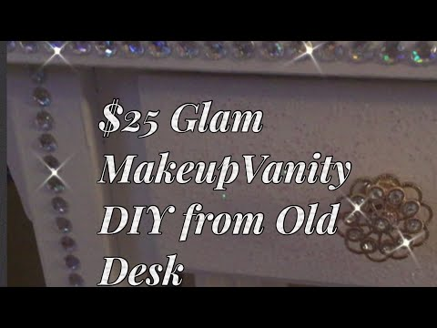 Desk to Vanity Makeover | Repurposed Furniture