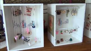 020 tuto créer vos présentoirs à bijoux pas chers avec de la récup par kerrozenn