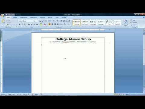 How To Make A Template In Microsoft Word 2007 Youtube
