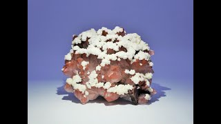 Red Hematite Quartz with Dolomite and Iridescent Chalcopyrite