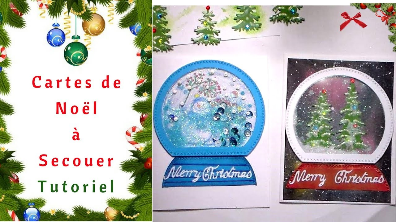 Comment Faire Un Carte De Noel.Comment Faire Des Cartes De Noël à Secouer Tutoriel
