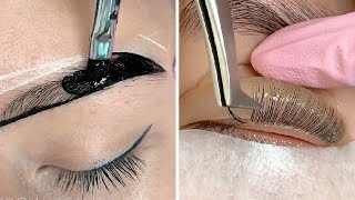 The ULTIMATE Eyebrows Transformations & Eyelash Lifting | Compilation Plus
