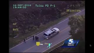 GRAPHIC VIDEO: Helicopter video of deadly Tulsa police shooting