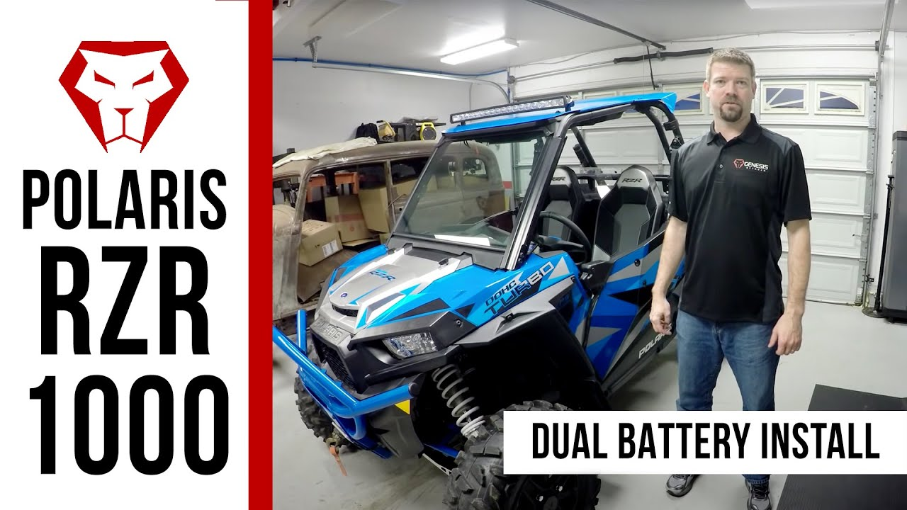 hight resolution of dual battery kit for the polaris rzr 1000 installation instructions